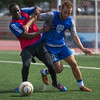 Indy Eleven tryouts - fight for possession