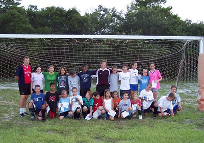 The soccer camp age 10 - 14, Tyndall AFB.