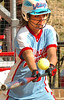 23 for Powell Valley bunts early in game in effort to advance runner. Photo by Ned Jilton II