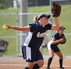 Amber Marstin, pitcher for William Campbell Generals, throws out the softball against Powell Valley. Photo by Erica Yoon