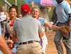 The Powell Valley pitcher and catcher are greeted by one of their coaches as they come off the field after shutting down a Gate City wscoring threat late in the game. Photo by Ned Jilton II