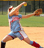 Powell Valley starting pitcher winds up to send one to the plate. Photo by Ned Jilton II