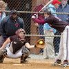Dobyns Bennett's Makenzie Lilley, #13, gets out of the way of an inside pitch. Photo by Ned Jilton II
