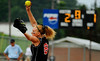The scoreboard tells the story as Holston's Megan Lowe works the bottom half of the 18th inning to shut down the homestanding Blue Knights in Wednesday's second-day conclusion of the VHSL state quarterfinal marathon in Coeburn. Photo by Kris Wilson - kswilson@timesnews.net