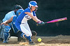 Coeburn's #3, Megan Hall, chops one down the first base line. Photo by ned Jilton II
