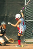 Powell Valley's #6, Sarah Hulsey, is hit by pitch. Photo by Ned Jilton II