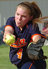 Union's starting pitcher, #4, winds and delivers to the plate. Photo by Ned Jilton II