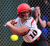 Warriors Kerri Mullins bats in game with Gate City. Photo by David Grace