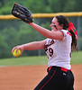 Central pitcher Kaitlyn Stratton