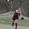Natalie Carroll fires the ball over to first for an out in Monday's loss to West Boylston.<br /> NASHOBA PUBLISHING/ED NISER