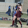 Leadoff hitter Maddie Mitrano scampers across home plate for a run in the Panthers' 13-6 loss to West Boylston Monday.<br /> NASHOBA PUBLISHING/ED NISER