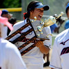 "Alyssa Palomino of the California Team Mizuno, holds the 16-under Championship Trophy after her team beat the Corona (CA) Angels on Sunday.<br /> For more photos of the championship games, go to  <a href=""http://www.dailycamera.com"">http://www.dailycamera.com</a>.<br /> Cliff Grassmick / July 1, 2012"