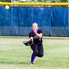 Record-Eagle/Brett A. Sommers Frankfort right fielder Kassidy Hollenbeck make a catch in the outfield during Tuesday's Division 4 quarterfinal against Coleman at Lincoln Elementary in Cadillac. Coleman won 1-0.
