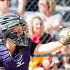 Record-Eagle/Brett A. Sommers Frankfort catcher Keziah Stockdale takes a pitch during Tuesday's Division 4 quarterfinal against Coleman at Lincoln Elementary in Cadillac. Coleman won 1-0.