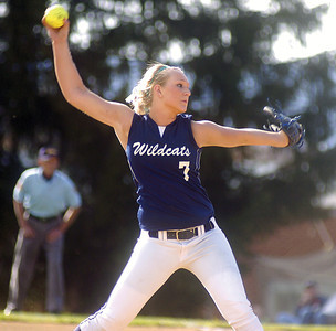 Mifflinburg's Ally Lloyd winds up while pitching against Central Columbia on Tuesday.