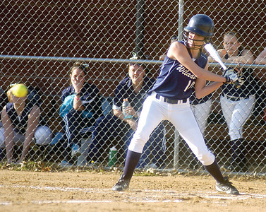 Mifflinburg's Ashley Roush gets ready to hit the ball during Tuesday's game with Central Columbia.