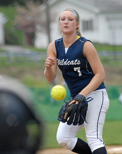 Mifflinburg's Ally Lloyd sends a pitch to the plate during their 2-1 win over Warrior Run Thursday May 3, 2012.