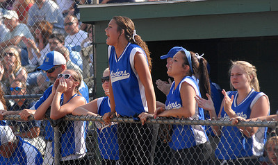 Members of Warrior Run's team cheer for teammates during their win over Mifflinburg Thursday May 31, 2012 at Elm Park in Williamsport.