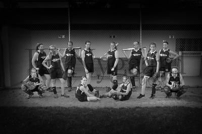 2013 Girls softball travel team-7bw