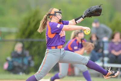 Danville's Taylor Cashner winds up to throw a pitch during Tuesday's game against Shamokin.