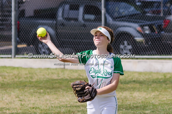 2016 Eagle Rock JV Softball vs Wilson Mules