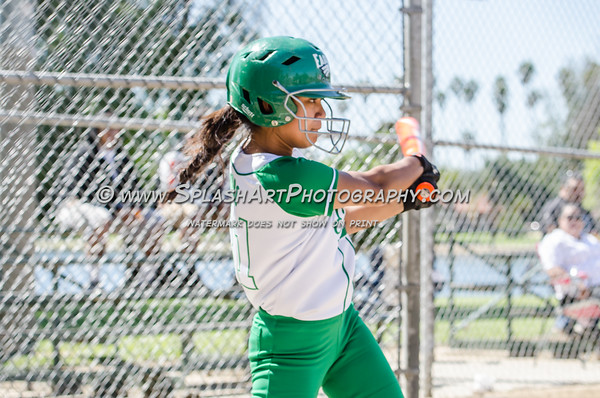 2016 Eagle Rock JV Softball vs Lincoln Tigers