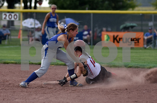 Newell-Fonda vs Akron-Westfield during 1A Semi-finals State Softball Tournament at Harlan Rogers Sports Complex on July 21, 2016