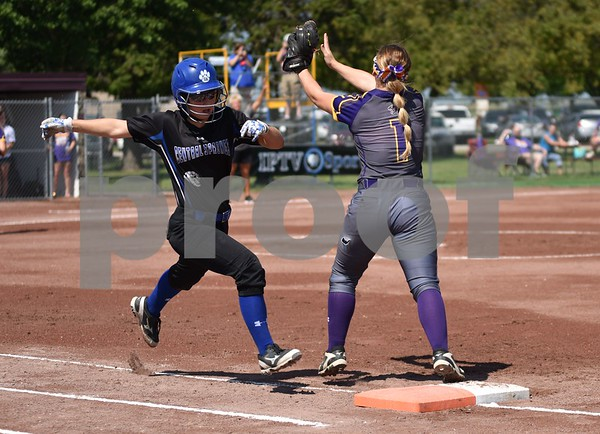 Logan-Magnolia vs Central Spring during class 2A quarter finals State Softball Tournament at Harlan Rogers Sports Complex on July 20, 2016