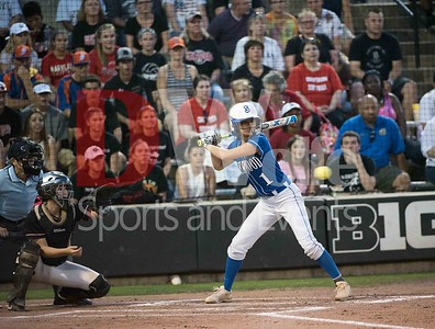 Sherwood's  Centerfielder Amanda Berkley let this one go as it was wide to the outside for ball 1.