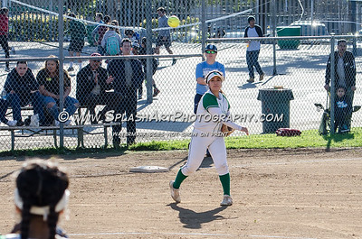 2017 Softball Eagle Rock vs Sylmar Spartans 24Feb2017