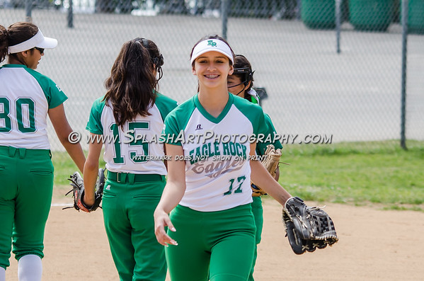 2017 Eagle Rock JV Softball vs Lincoln Tigers