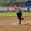 STEPHEN BROOKS   THE GOSHEN NEWS<br /> Wawasee junior Meghan Fretz fires off a pitch during Tuesday's 3A sectional semifinal against NorthWood at Fairfield High School. Wawasee won 12-1 to advance to the sectional championship.