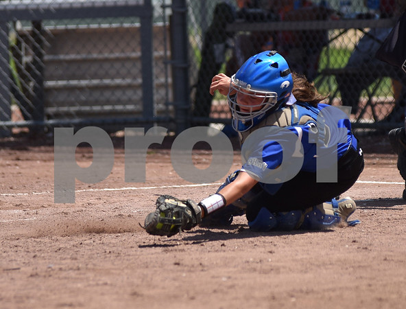 Benton Community vs Boyden hull/Rock Valley during 3A Semi-finals State Softball Tournament at Harlan Rogers Sports Complex on July 21, 2016