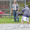 Travis Nicholson gets a hit during the opening game of the 25th season of the Challenger Softball League at Coggshall Park in Fitchburg on Saturday morning. SENTINEL & ENTERPRISE / Ashley Green