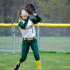 Fitchburg State's Marissa Gemma grabs a pop-up during the game against Salem State on Thursday afternoon. SENTINEL & ENTERPRISE / Ashley Green