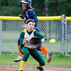 Fitchburg State's Marissa Gemma receives a late throw during the game against Salem State on Thursday afternoon. SENTINEL & ENTERPRISE / Ashley Green
