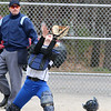 Leominster's catcher freshman Tamara Landry makes a nice catch at the plate after a pop up in their game against Westboro on Tuesday morning. SENTINEL & ENTERPRISE/JOHN LOVE