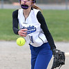 Leominster's pitcher Mariah Kaczor fires a pitch to the plate in the first inning during their game against Westboro on Tuesday morning. SENTINEL & ENTERPRISE/JOHN LOVE