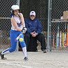 Leominster's player Kelsey Joyce makes contact with the ball during their game against Westboro on Tuesday morning. SENTINEL & ENTERPRISE/JOHN LOVE