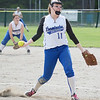 Leominster's Annie Thomas took the mound Thursday afternoon in the first round of the Central Mass. Division 1 playoffs against <br /> Doherty. SENTINEL & ENTERPRISE/ Ashley Green