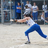 Leominster's #4 Devon Joyce attempts a bunt during the game against Doherty on Thursday afternoon in the first round of the Central Mass. Division 1 playoffs. SENTINEL & ENTERPRISE/ Ashley Green