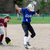 Lunenburg's Natalie Proctor runs safely into third during the 15-10 win over Fitchburg on Friday morning. SENTINEL & ENTEPRISE / Ashley Green
