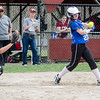 Lunenburg's Julia Hebert grabs a hit during the 15-10 win over Fitchburg on Friday morning. SENTINEL & ENTEPRISE / Ashley Green