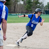 Lunenburg Gabby Masciarelli rounds third before scoring a run during the 15-10 win over Fitchburg on Friday morning. SENTINEL & ENTEPRISE / Ashley Green