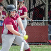 Fitchburg High's Hannah Faulkner grabs a hit during the 15-10 loss to Lunenburg on Friday morning. SENTINEL & ENTEPRISE / Ashley Green