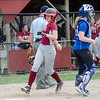 Fitchburg High's Emma Auger scores a run during the 15-10 loss to Lunenburg on Friday morning. SENTINEL & ENTEPRISE / Ashley Green