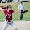 Fitchburg High's Kammarie Pelland delivers a pitch during the 15-10 loss to Lunenburg on Friday morning. SENTINEL & ENTEPRISE / Ashley Green