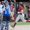 Fitchburg High's Morgan Perla scores a run during the 15-10 loss to Lunenburg on Friday morning. SENTINEL & ENTEPRISE / Ashley Green