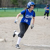 Lunenburg's Leah Sowerbutts rounds third and scores a run during the 15-10 win over Fitchburg on Friday morning. SENTINEL & ENTEPRISE / Ashley Green