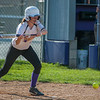 Monty Tech's Rebecca Glbert lays down a bunt to load the bases in the 6th inning against Littleton in the Div III quarterfinals. This would lead to 2 insurance runs in the Bulldogs 3-0 win. SENTINEL&ENTERPRISE/ Jim Marabello